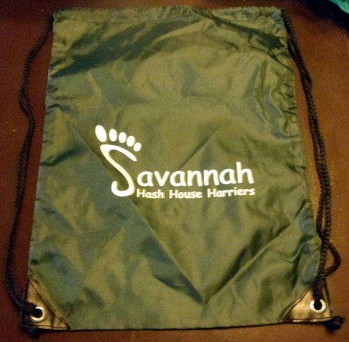 SavH3 Green Drawstring Bag