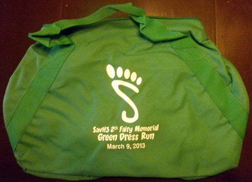 Green Dress Run Bag
